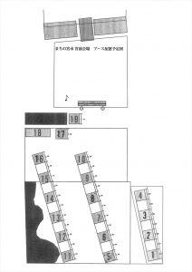 宮前エリア(宮前三八屋市広場)ブース配置図